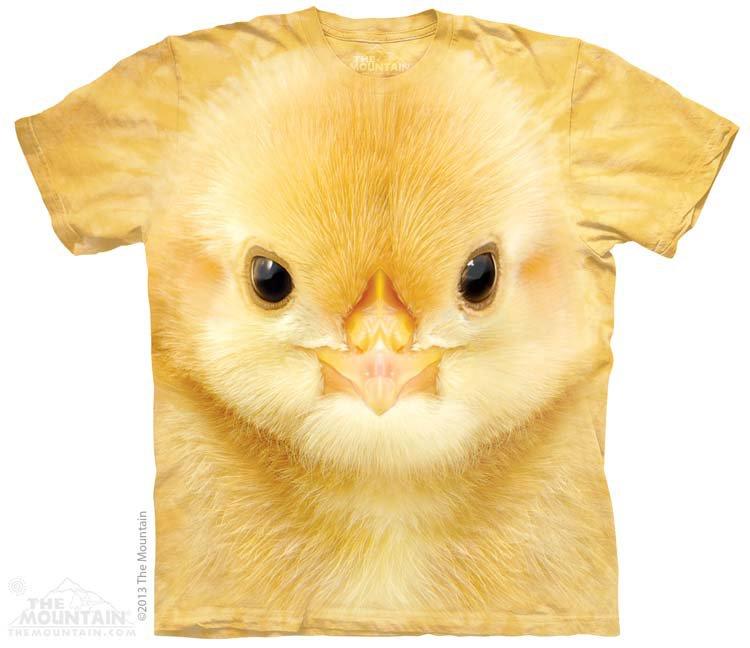 Купить The Mountain Детская футболка Big Face Baby Chick - Голова цыпленка