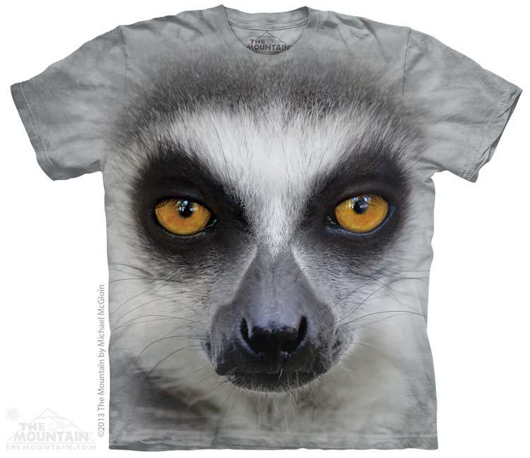 Купить The Mountain Детская футболка Big Face Tailed Lemur - Морда хвостатого лемура