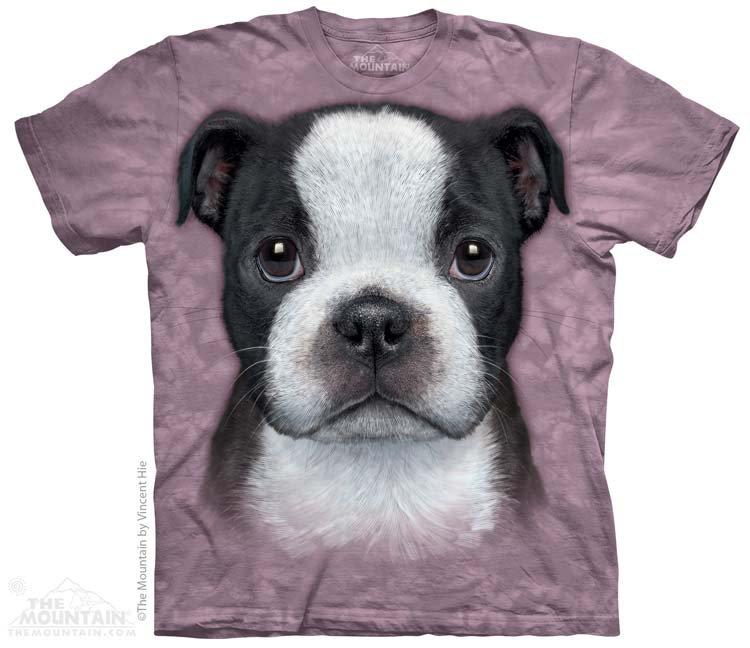 Купить The Mountain Детская футболка Boston Terrier Puppy - Щенок бостонского терьера