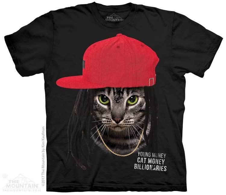 Купить The Mountain Футболка Cat Money Billionaires - Кот-миллиардер