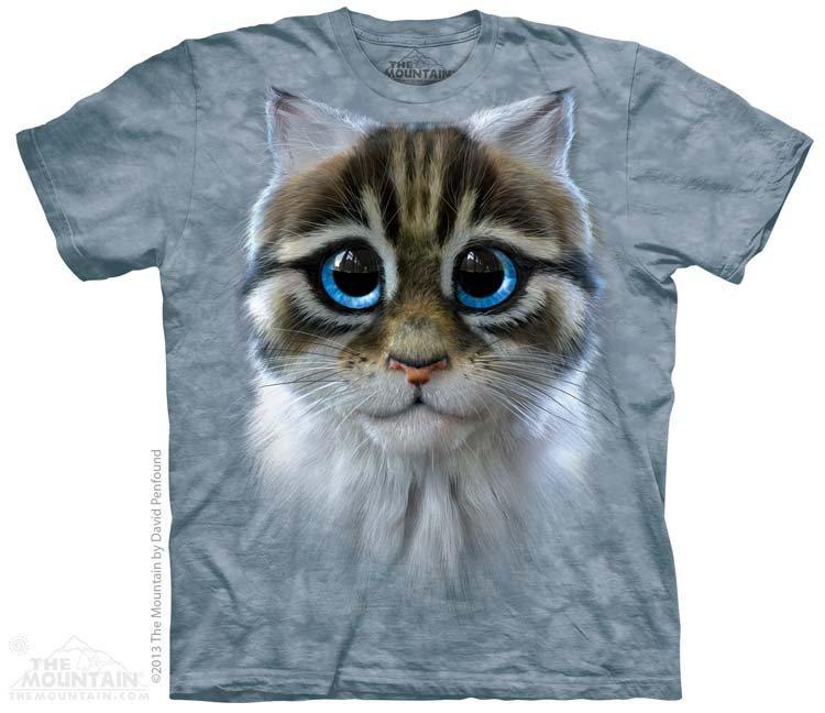 Купить The Mountain Детская футболка Catten - Кот с голубыми глазами