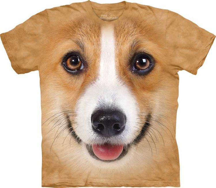 Купить The Mountain Детская футболка Corgi Face - Морда собаки породы корги