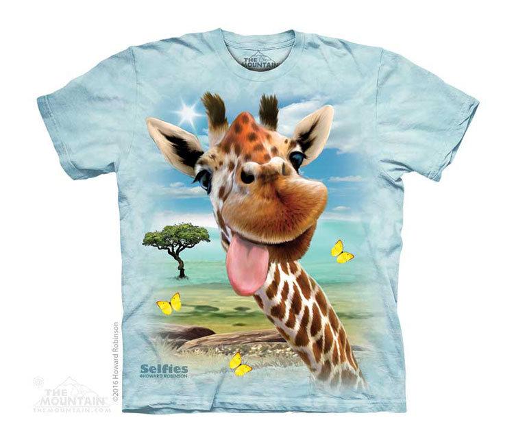 Купить The Mountain Детская футболка Giraffe Selfie - Селфи жирафа