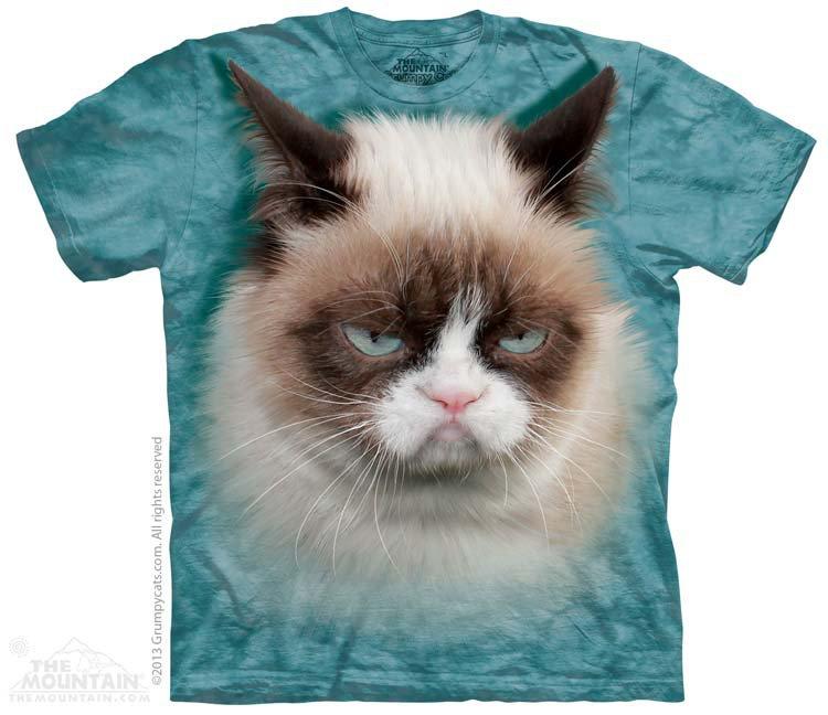 Купить The Mountain Детская футболка Grumpy Cat - Недовольный кот