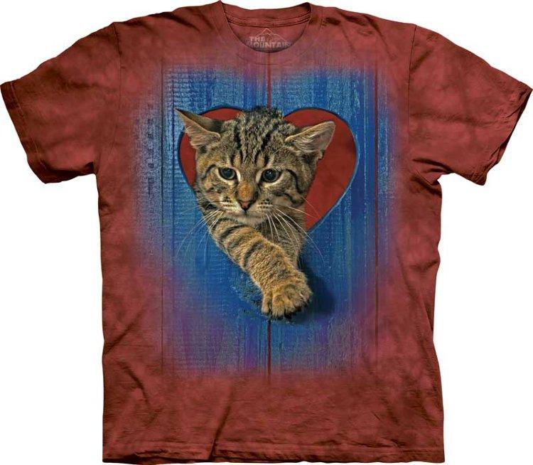 Купить The Mountain Детская футболка Heart Kitten - Сердце котёнка