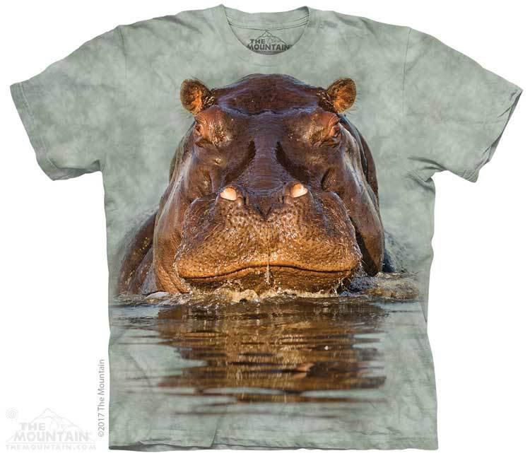 Купить The Mountain Футболка Hippo - Бегемот