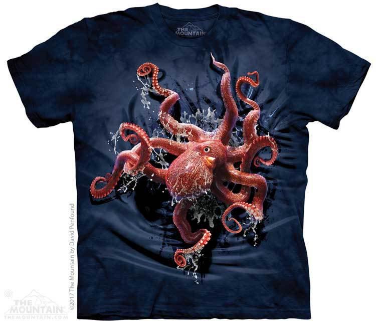 Купить The Mountain Футболка Octopus Climb - Карабкающийся осьминог