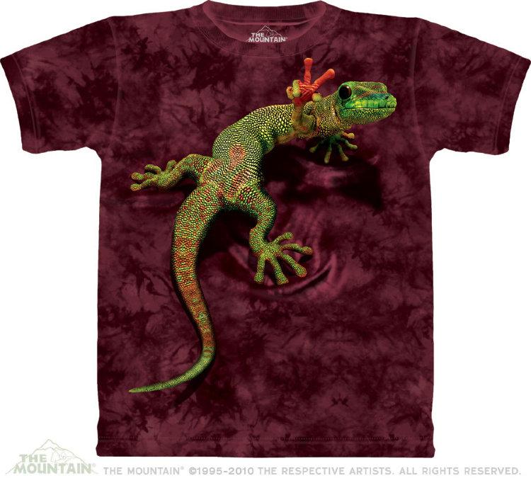 Купить The Mountain Детская футболка Peace Out Gecko - Геккон на футболке