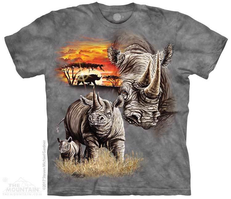 Купить The Mountain Футболка Rhinos - Носороги