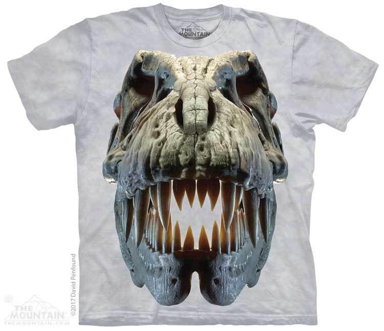 Купить The Mountain Футболка Silver Rex Skull - Серебряный череп динозавра