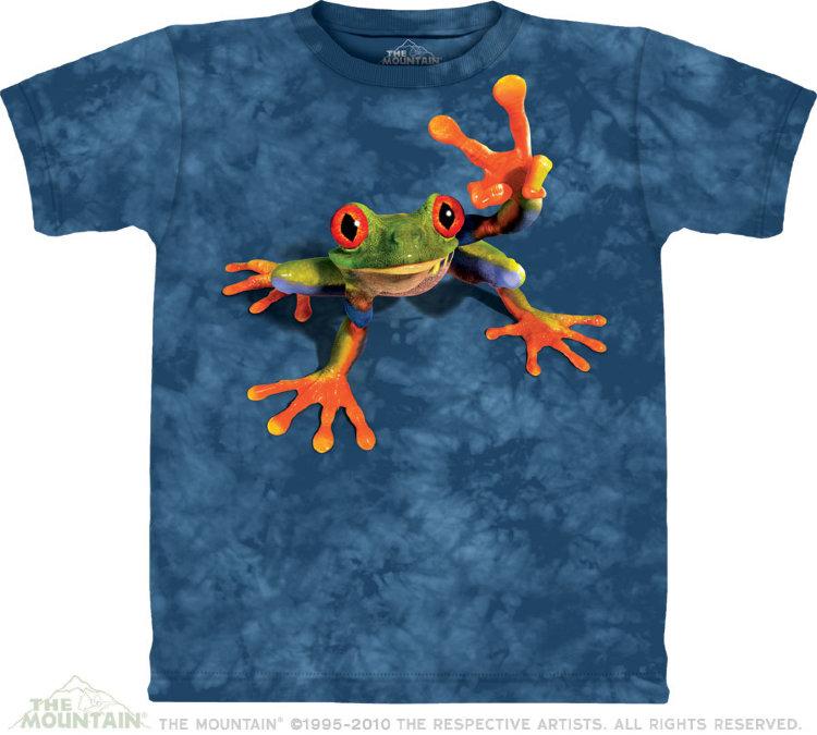 Купить The Mountain Детская футболка Victory Frog - Лягушка с символом Виктори