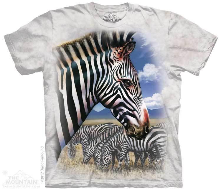 Купить The Mountain Футболка Zebra Portrait - Портрет Зебры