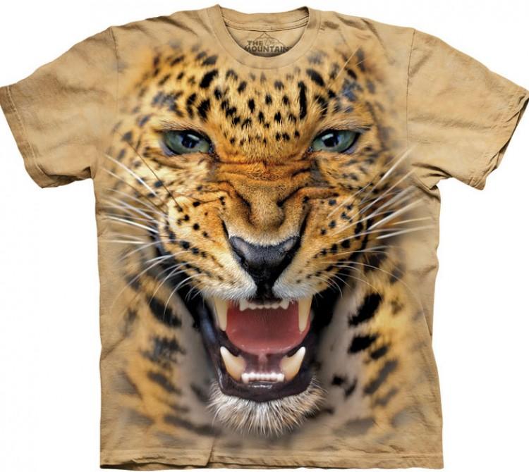 Купить The Mountain Футболка Angry Leopard - Злой леопард