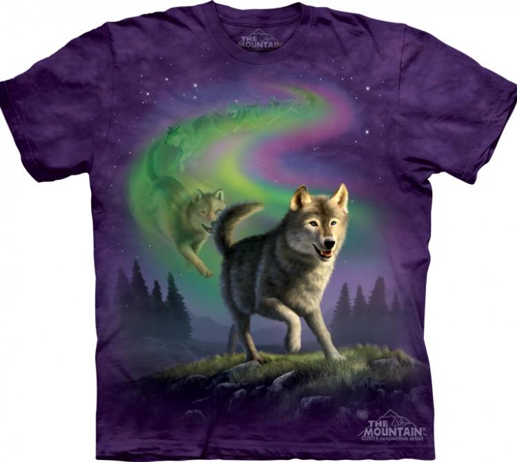 Купить The Mountain Футболка Aurora Wolfpack - Волчья стая из полярного сияния