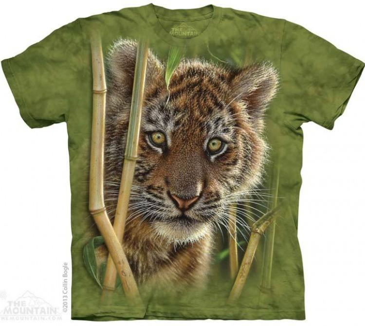 Купить The Mountain Футболка Baby Tiger - Тигренок в зарослях бамбука
