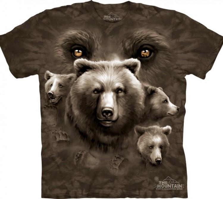 Купить The Mountain Футболка Bear Eyes - Глаза медведя