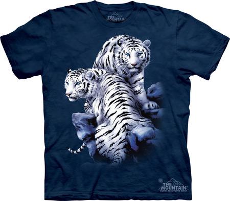 Купить The Mountain Футболка Sanctuary - Белые тигры в заповеднике