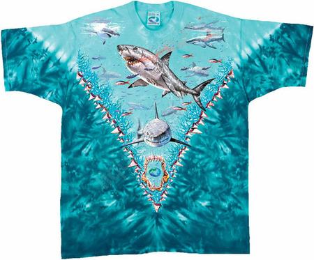 Купить Liquid Blue Футболка Great white sharks - Большая белая акула (двухсторонняя)