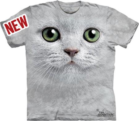 Купить The Mountain Футболка Green Eyes Face - Морда кошки с зеленными глазами