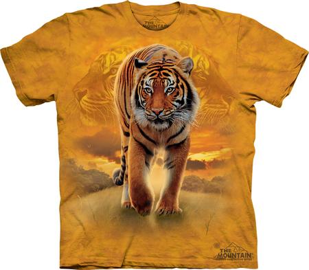 Купить The Mountain Футболка Rising Sun Tiger - Тигр на восходе солнца