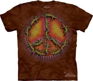 Купить The Mountain Футболка Gecko Peace Dye - Символ пацифики из ящериц