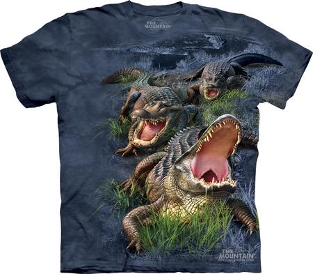 Купить The Mountain Футболка Gator Bog - Аллигаторы в болоте