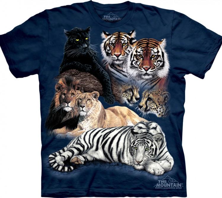 Купить The Mountain Футболка Big Cat Collage - Большие кошки