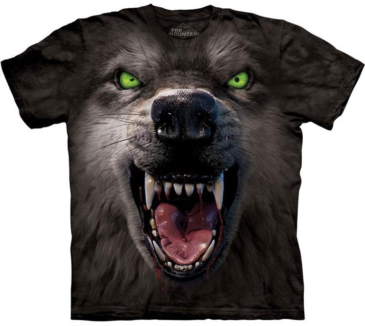 Купить The Mountain Футболка Big Face Attack Wolf - Морда атакующего волка