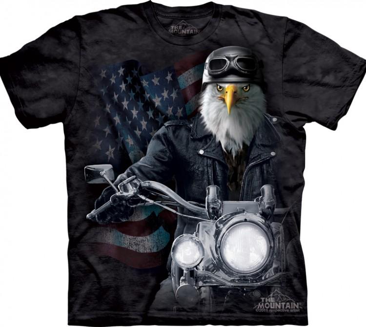 Купить The Mountain Футболка Biker Stryker - Орел-байкер