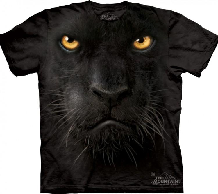 Купить The Mountain Футболка Black Panther Face - Морда черной пантеры