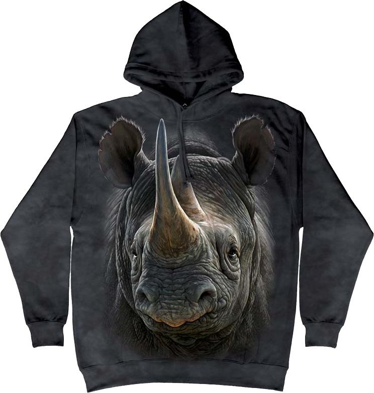 Купить The Mountain Футболка Black Rhino - Черный носорог (толстовка)