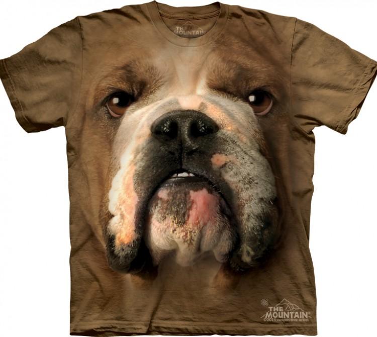 Купить The Mountain Футболка Bulldog Face - Морда бульдога