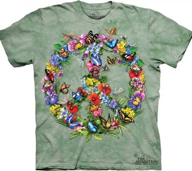 Купить The Mountain Футболка Butter Dragon Peace - Символ пацифики из цветов и бабочек
