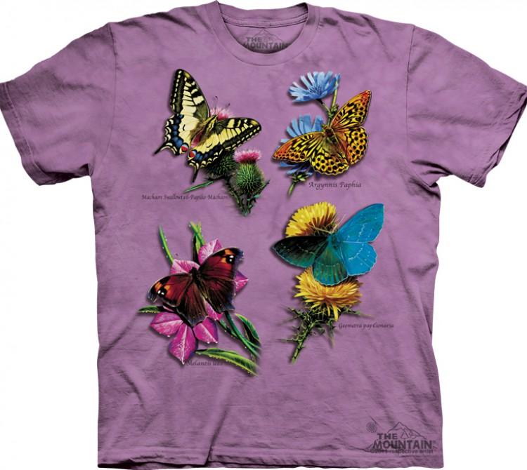 Купить The Mountain Футболка Butterfly Study - Исследование бабочек
