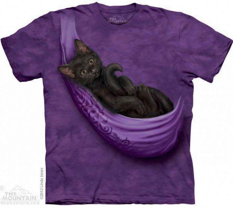 Купить The Mountain Футболка Cats Cradle - Черный котенок в переноске