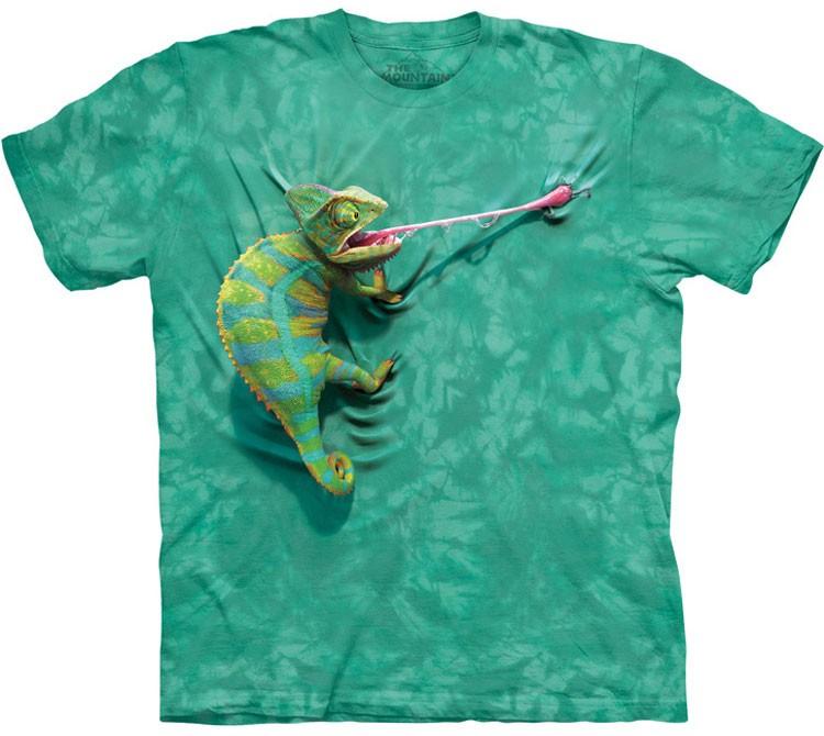Купить The Mountain Футболка Climbing Chameleon - Взбирающийся Хамелеон