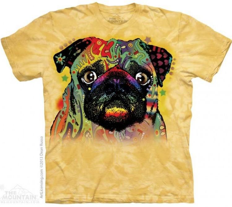 Купить The Mountain Футболка Colorful Pug - Красочный мопс
