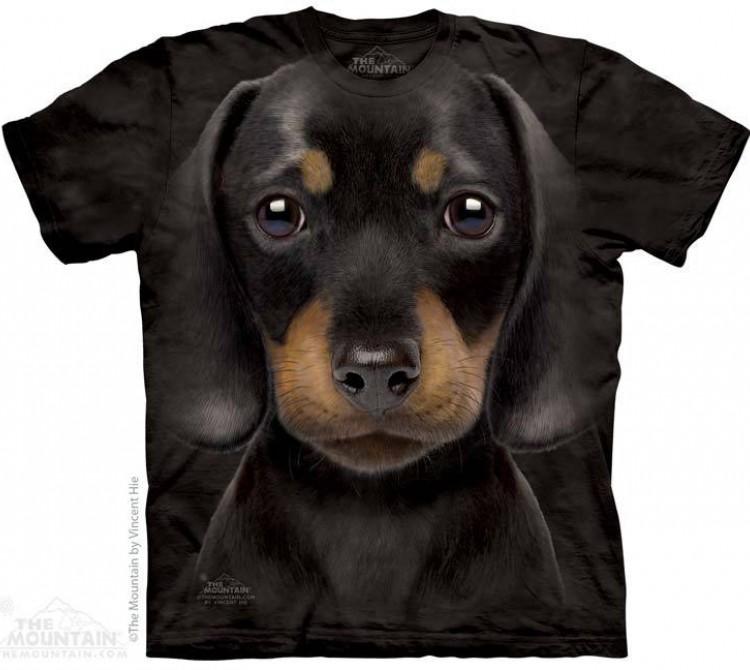Купить The Mountain Футболка Dachshund Puppy - Щенок Таксы