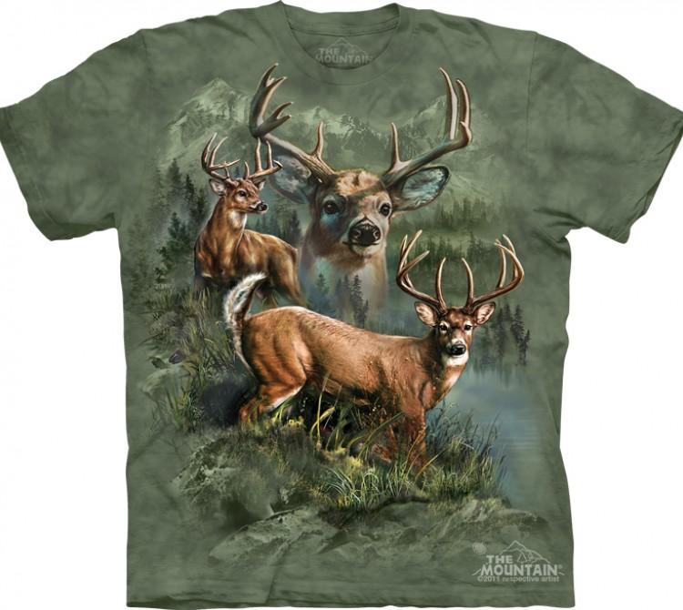 Купить The Mountain Футболка Deer Collage - Олени