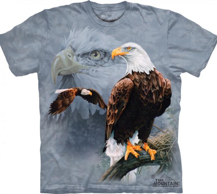 Купить The Mountain Футболка Eagle Collage - Американский орел (белоголовый орлан)