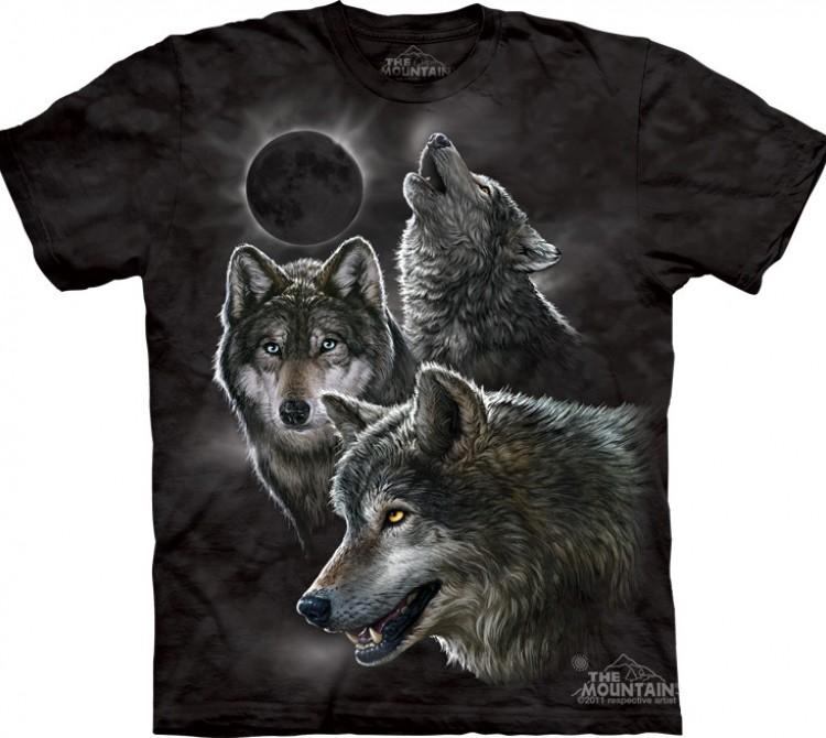 Купить The Mountain Футболка Eclipse Wolves - Солнечное затмение