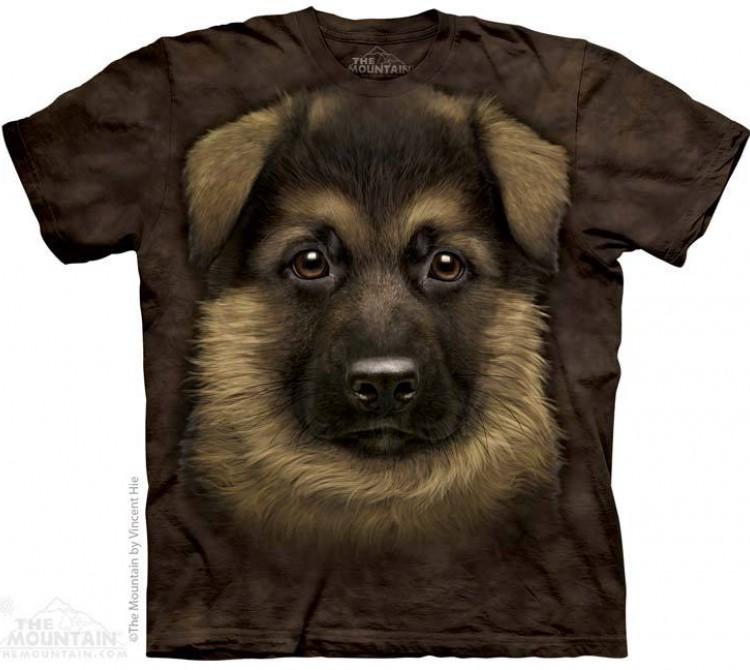 Купить The Mountain Футболка German Shepherd Puppy - Щенок Немецкой Овчарки
