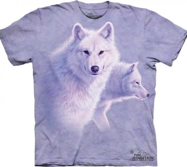 Купить The Mountain Футболка Graceful White Wolves - Белые волки