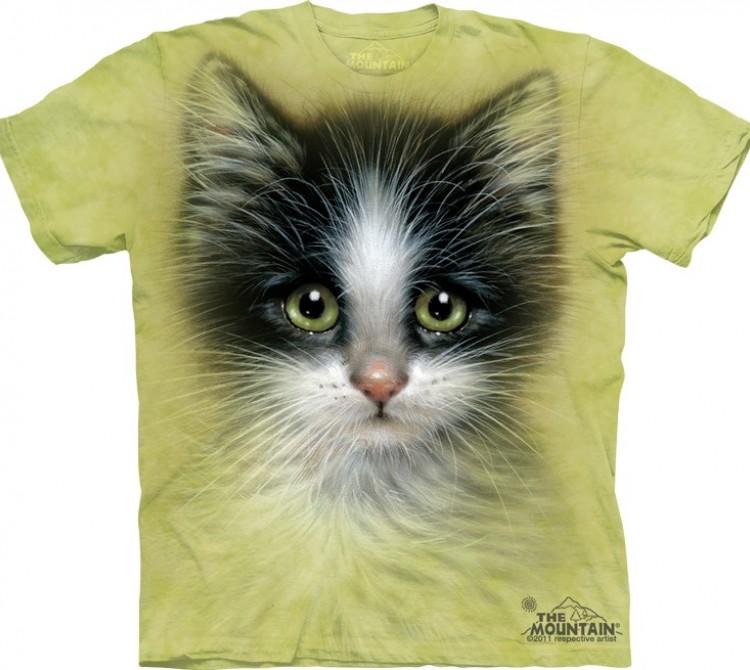 Купить The Mountain Футболка Green Eyed Kitten - Мордочка котенка с зелеными глазами