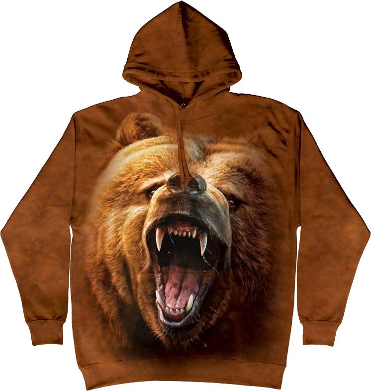 Купить The Mountain Футболка Grizzly Growl - Рычащий гризли (толстовка)