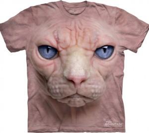 Футболка Hairless Pussycat - Морда бесшерстной кошки Сфинкс