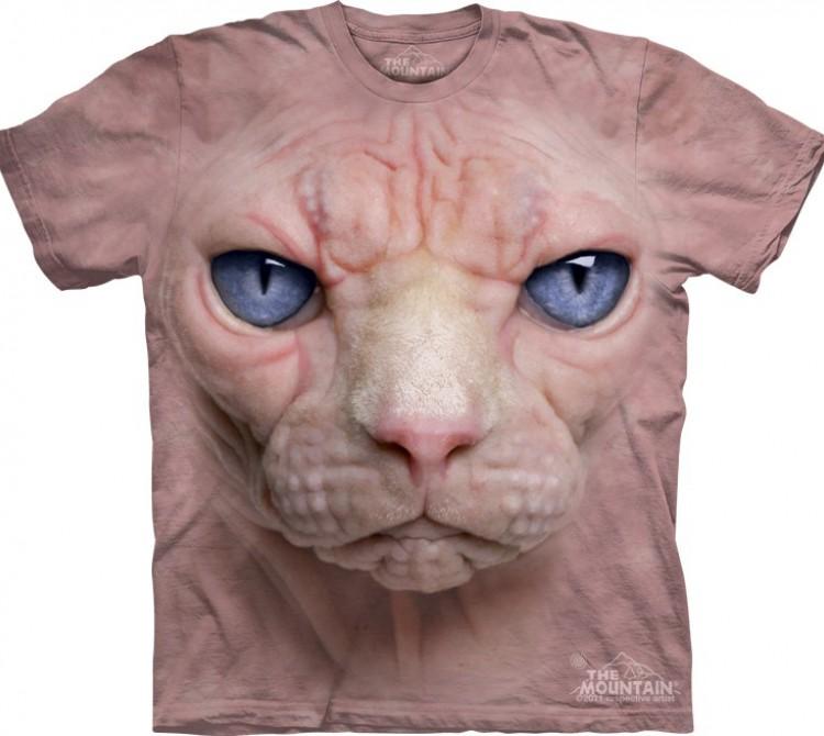 Купить The Mountain Футболка Hairless Pussycat - Морда бесшерстной кошки Сфинкс