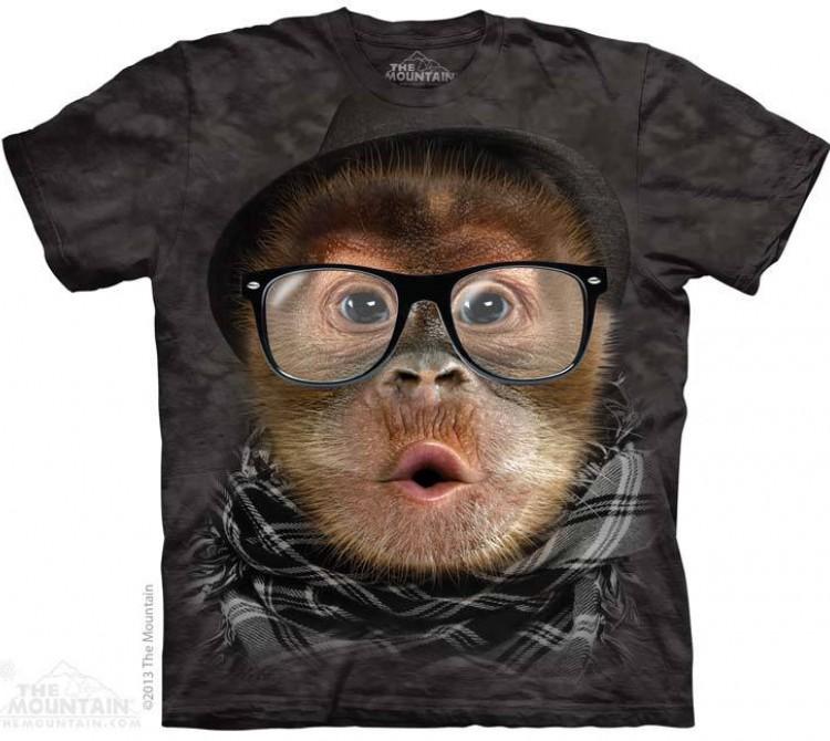 Купить The Mountain Футболка Hipster Orangutan Baby - Орангутан-Хипстер