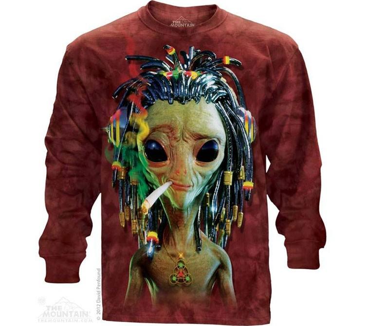 Купить The Mountain Футболка Jammin Alien - Курящий инопланетянин (длинный рукав)