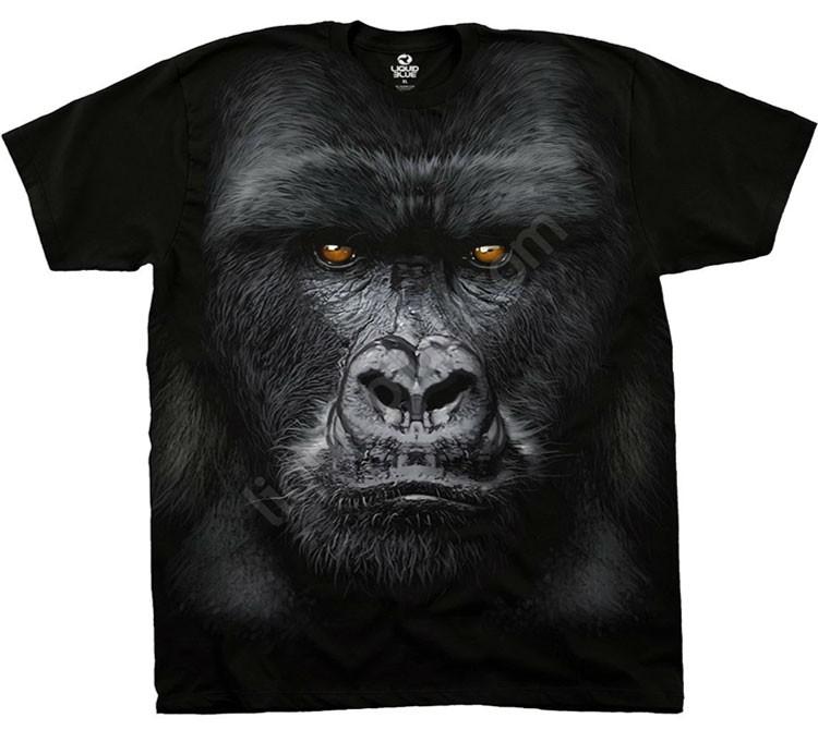 Купить Liquid Blue Футболка Majestic Gorilla - Голова гориллы